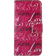 For Nokia etui Pung Kortholder Flip Mønster Etui Heldækkende Etui Ord / sætning Hårdt Kunstlæder for NokiaNokia Lumia 630 Nokia Lumia 625