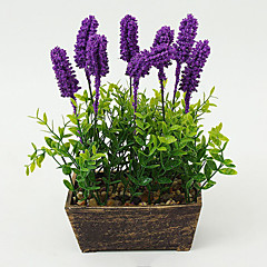 Set of 1 PCS 1 haara Polyesteri Vaaleansininen Pöytäkukka Keinotekoinen Flowers 7.8