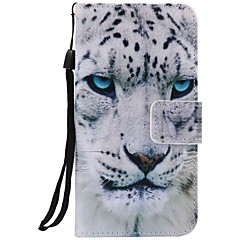 Stained White Panther PU Phone Case For iPhone 7 7 Plus 6s 6 Plus 5SE 5S 5