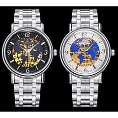 BOSCK Heren Dress horloge mechanische horloges Automatisch opwindmechanisme Kalender Waterbestendig Lichtgevend Roestvrij staal Band