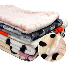Gato / Dog Camas / Saúde Animais de Estimação Mantas Macio Malha polar Preto / Branco / Rosa / Cinzento