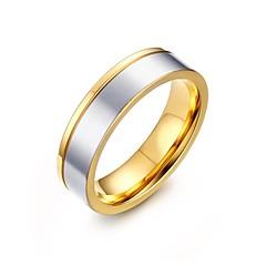 Pierścionki dla par Stal nierdzewna Pozłacane Modny Osobiste White Biżuteria Impreza Codzienny Casual 1szt