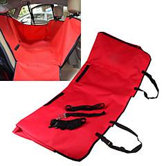 Gato / Perro Cobertor de Asiento Para Coche Mascotas Cubiertas Impermeable / Plegable Rojo / Negro / Azul / Marrón / Gris Tejido