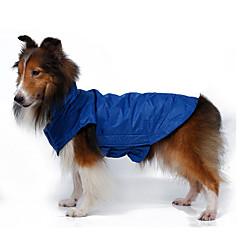 Σκυλιά Παλτά / Jachetă / Veste Κόκκινο / Πορτοκαλί / Κίτρινο / Μπλε / Μαύρο / Τριανταφυλλί Ρούχα για σκύλους Χειμώνας ΜονόχρωμοΑδιάβροχη