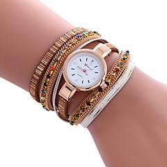 Damers Modeklocka Armbandsklocka Vardaglig klocka Quartz / PU Band Häftig Fritid Svart Vit Blå Röd Guld Guld Vit Svart Röd Blå