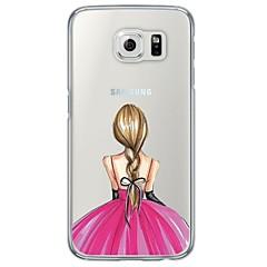 Voor Samsung Galaxy S7 Edge Hoesje cover Ultradun Doorzichtig Achterkantje hoesje Sexy dame Zacht TPU voor SamsungS7 edge S7 S6 edge plus