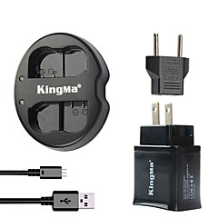 KingMa Dual USB Charger for Nikon Battery and Nikon D7000 D7100/1V1/D600/D600E/D600  with USB Adapter Plug Power