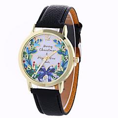 Dames Dress horloge Modieus horloge Polshorloge Kwarts / PU Band Vlinder Zwart Wit Blauw Rood Bruin Groen Ivoor Goud RoseBeige Roos Bruin