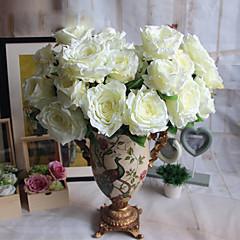 1 1 haara Polyesteri / Muovi Ruusut Pöytäkukka Keinotekoinen Flowers 22*5.1inch/56*13cm