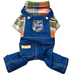honden Jumpsuits Denim jacks Hondenkleding Winter Lente/Herfst Jeans Modieus Cowboy Oranje Roos