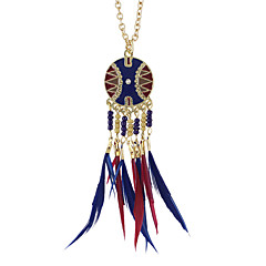 Necklace Pendant Necklaces Jewelry Party / Daily / Casual Fashion / Bohemia Style / Personality Alloy / Leather Gold 1pc Gift