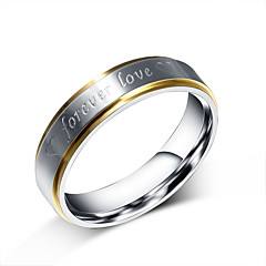Unisex Fashion 316L Titanium Steel Ring Forever Love Band Rings Party/Casual/Daily Women Men 1pc