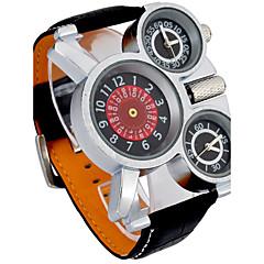 Masculino Relógio Esportivo / Relógio Militar / Relógio de Moda / Relógio de Pulso Quartz / Quartzo Japonês Punk / / Couro BandaVintage /