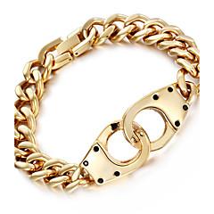 Herre Kæde & Lænkearmbånd Mode Rustfrit Stål 18K guld Geometrisk form Uendelighed Smykker Til Fest Halloween Fødselsdag Daglig Afslappet