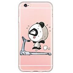 Cartoon Panda Pattern TPU Ultra-thin Translucent Soft Back Cover for Apple iPhone 6s 6 Plus SE 5s 5