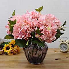 Set of 1 PCS 1 haara Polyesteri Hortensiat Pöytäkukka Keinotekoinen Flowers 17*5.9