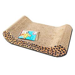 고양이 장난감 반려동물 장난감 인터렉티브 스크래치 패드 나무 브라운