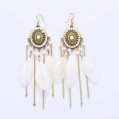 European And American Fashion Tassels Eardrop Disk Long Earrings Big Folk Customs Earrings
