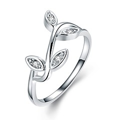 Ring Silver Plated Alloy Simple Style Fashion Silver Jewelry Wedding Party Daily Casual 1pc
