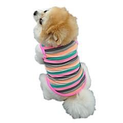고양이 개 티셔츠 조끼 강아지 의류 겨울 여름 모든계절/가을 스트라이프 귀여운 생일 휴일 패션 캐쥬얼/데일리 스포츠 방풍 멀티 컬러