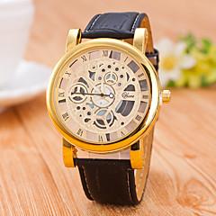 Hombre Mujer Unisex Reloj Esqueleto El reloj mecánico Cuerda Automática / PU Banda Casual Negro Marrón Negro Café