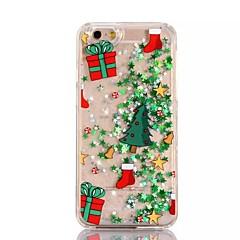 Για Θήκη iPhone 7 / Θήκη iPhone 6 / Θήκη iPhone 5 Ρέον υγρό / Ημιδιαφανές / Με σχέδια tok Πίσω Κάλυμμα tok Χριστούγεννα Σκληρή PC Apple