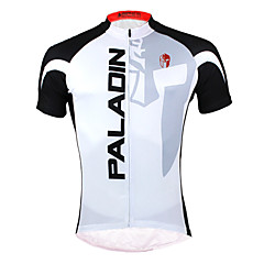 PALADIN® Cycling Jersey Men's Short Sleeve Bike Breathable / Quick Dry / Ultraviolet Resistant Jersey / Tops Polyester / 100% Polyester