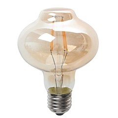 4W E26/E27 Bombillas LED de Globo G80 4 COB 380 lm Blanco Cálido Decorativa / Impermeable V 1 pieza