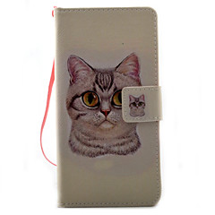 For Sony Xperia X XA Case Cover Cat Pattern Painting PU Leather Material Card Stent for XP XZ