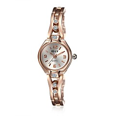 לנשים שעוני אופנה / שעון צמיד קווארץ עמיד במים סגסוגת להקה מזל / יום יומי זהב מותג