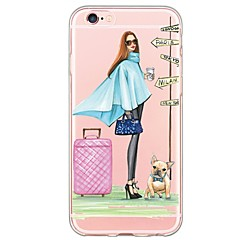 For iPhone 7 7Plus Sexy Lady Pattern TPU Ultra-thin Translucent Soft Back Cover for iPhone 6s 6 Plus 5s 5 5E