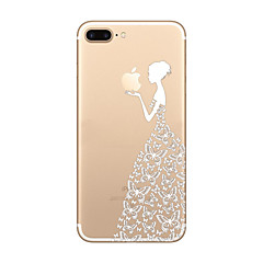 Için Ultra İnce / Şeffaf / Temalı Pouzdro Arka Kılıf Pouzdro Oynanan Apple Logosu Yumuşak TPU AppleiPhone 7 Plus / iPhone 7 / iPhone 6s