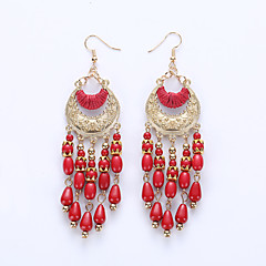 Drop Earrings Earrings Jewelry Resin Alloy Bohemia White Black Red Green Jewelry Wedding Party Halloween Daily 1 pair