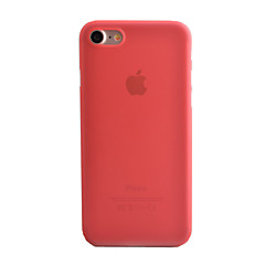 Kompatibilitás iPhone 8 iPhone 8 Plus iPhone 7 iPhone 7 Plus iPhone 6 tokok Jeges Áttetsző Hátlap Case Tömör szín Kemény PC mert Apple
