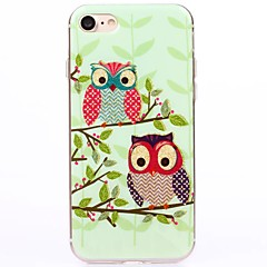 For iPhone 7 etui iPhone 6 etui iPhone 5 etui IMD Etui Bagcover Etui Ugle Blødt TPU for AppleiPhone 7 Plus iPhone 7 iPhone 6s Plus/6 Plus