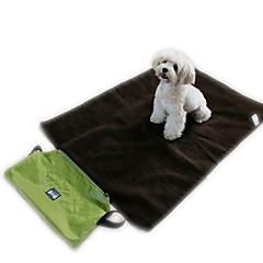 고양이 강아지 카 시트 커버 침대 애완동물 담요 휴대용 폴더 소프트 블랙 그린 옷감
