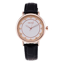 KEZZI Women's Fashion Quartz Casual Watch Simple Personality Leather Belt Round Alloy Dial Watch Cool Watch Unique Watch