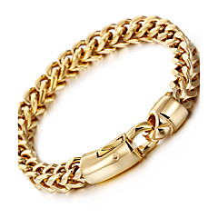 Bărbați Brățări cu Lanț & Legături La modă costum de bijuterii Teak Placat Auriu 18K de aur Geometric Shape Bijuterii Pentru Petrecere Zi