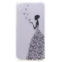 For Sony Case / Xperia X Transparent / Pattern Case Back Cover Case Sexy Lady Soft TPU Sony Sony Xperia X
