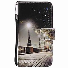 Για το γαλαξία της Samsung samsung α5 (2016) a3 (2016) περίπτωση κάλυψη πόλης τοπίο ζωγραφική pu περίπτωση τηλέφωνο