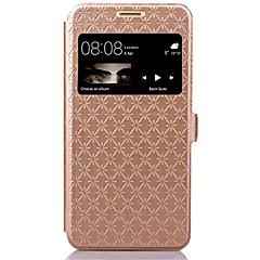 Na Etui Huawei / P9 Lite Etui na karty / Z podpórką / Z okienkiem / Flip Kılıf Futerał Kılıf Geometryczny wzór Twarde Skóra PU Huawei