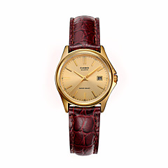 Women's Fashion Watch Quartz Calendar Leather Band Charm Brown Brand