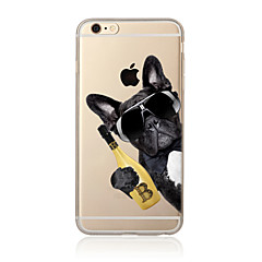 Mert Áttetsző / Minta Case Hátlap Case Kutya Puha TPU AppleiPhone 7 Plus / iPhone 7 / iPhone 6s Plus/6 Plus / iPhone 6s/6 / iPhone
