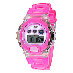 Kids' Sport Watch Digital LCD / Calendar / Water Resistant/Water Proof / Alarm / Stopwatch PU Band Candy colorBlack / Blue / Orange /