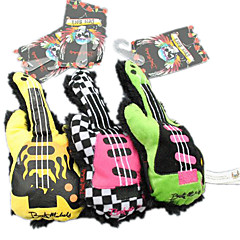 Cute Squeaking Gitar Shape Dog Toys for Pets