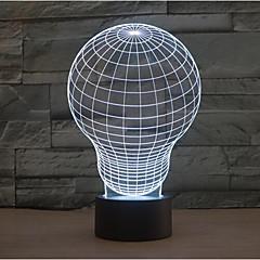 gloeilamp aanraking dimmen 3D LED 's nachts licht 7colorful decoratie sfeer lamp nieuwigheid verlichting kerstverlichting