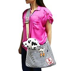 la moda rojo / azul diseño de rayas mochila bandolera cabestrillo para mascotas perros y gatos