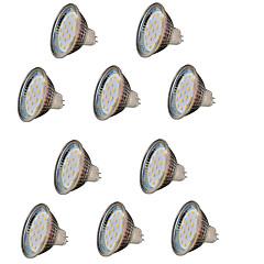 3W GU5.3(MR16) Lâmpadas de Foco de LED MR16 18 SMD 2835 300 lm Branco Quente Decorativa V 10 pçs