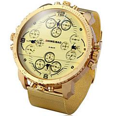 Αντρικά Αθλητικό Ρολόι Στρατιωτικό Ρολόι Μοδάτο Ρολόι Ρολόι Καρπού Χαλαζίας Ημερολόγιο Τριπλές Ζώνες Ώρας Πανκ κράμα ΜπάνταΠεπαλαιωμένο
