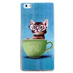 Til huawei p9 p8 lite case cover katte mønster tpu materiale telefon shell til y5c y6 y625 y635 5x 4x g8
